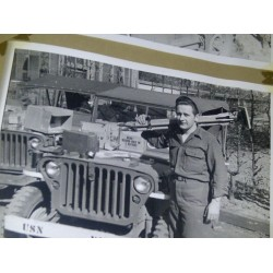 Uncle Louis with his Jeep in 1944