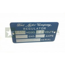 Ford Regulator Tag Plate -  ECJ-F-PLATE-004