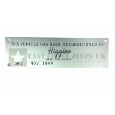 Vehicle Reconditioned Plate *Type A -  ECJ-F-PLATE-006