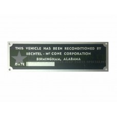 Vehicle Reconditioned Plate *Type B -  ECJ-F-PLATE-007