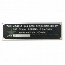 Vehicle Reconditioned Plate *Type C -  ECJ-F-PLATE-009