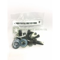 Ford GPW Fender to Grill Bolt Kit -ECJ/FTGBK/2