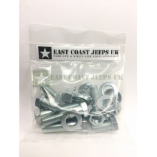 Willys MB Fender to Chassis Bolt Kit -ECJ/FTCBK/1