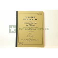 Master Parts List for Willys Trucks - TM-10-1186 / 1940-1943 Models MA & MB